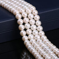 Wholesale Natural Freshwater Pearls Beads for Jewelry Making 11 12mm Round Natural Beads Pearls for Jewelry Making Necklace 14