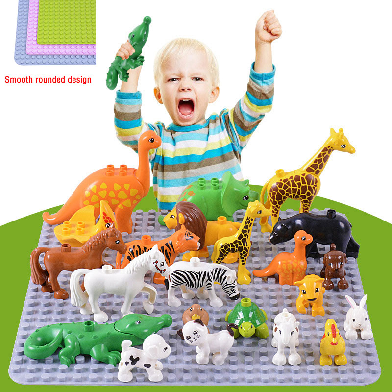 Qunlong Large Size Baseplate Big Base Plate 404 Dots Exlarge Brick Solid Plate Toys Compatible LegoINGlys Duploe Toys For Child