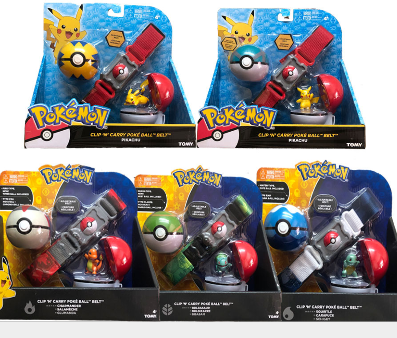 5 Style Pokeballs With Belt Action Figure Model Toys Retractable Belt Gifts For Children Kids Toys In Box