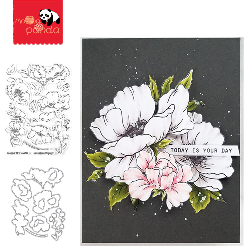 Poppy Garden Metal Cutting Dies And Stamps Cut Die Star Wings Angel On The Moon Crapbooking Album Paper Card Craft Embossing