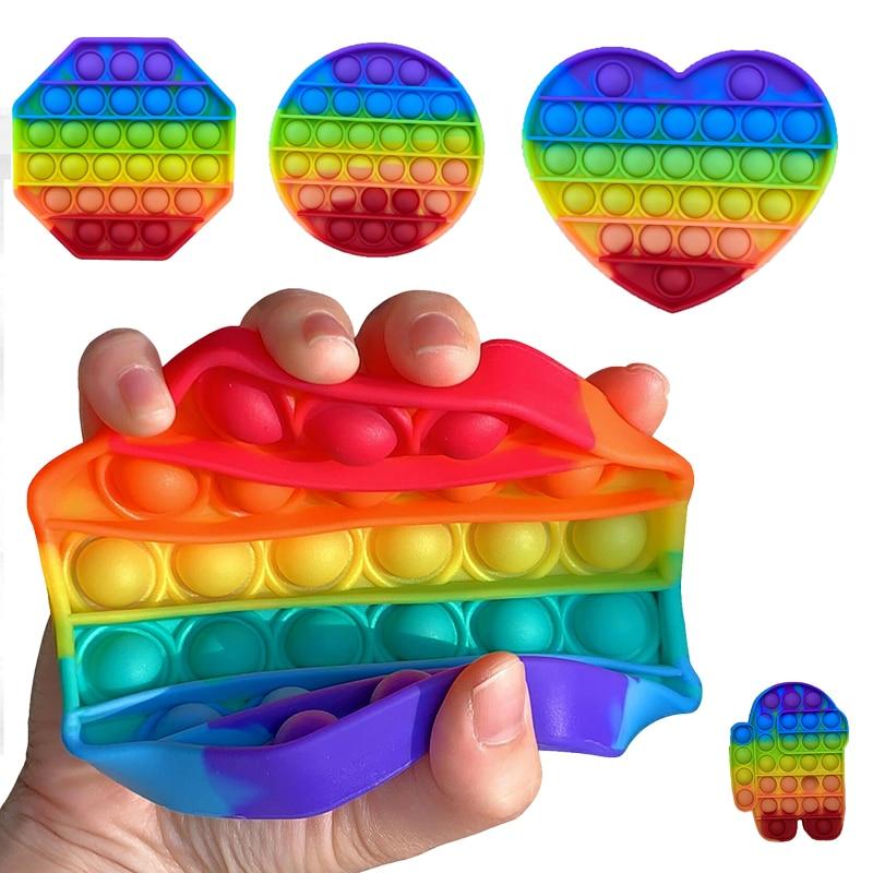 Простая пузырьковая игрушка для снятия стресса, игрушки для снятия стресса, пузырьковая игрушка для снятия стресса с аутизмом, специальная ...