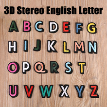 A-Z 1PCS 3D Stereo Embroidery English Alphabet Letter Embroidered Iron On Patch For Clothing Badge Paste chapter