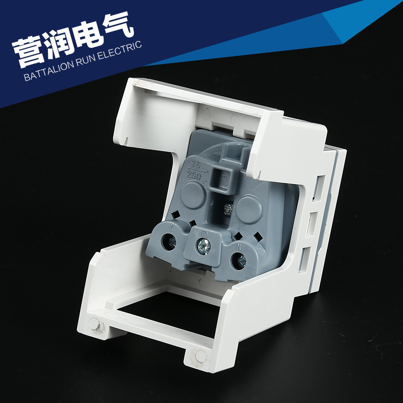 Ha2ee6d87a711434db8ef6a93c9200aadr - French Standard  din rail mount power socket English-scale Digital Socket C45 British Standard Card Rail Socket