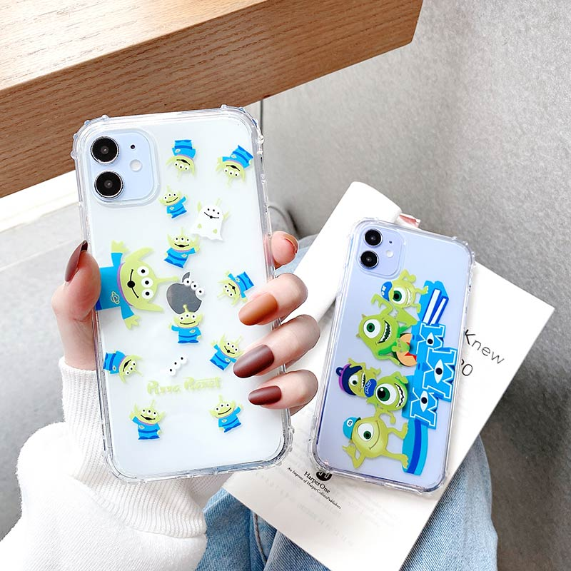 Cartoon <font><b>Toy</b></font> <font><b>story</b></font> Alien Silicone phone case For <font><b>iPhone</b></font> 11 Pro MAX XR X XS MAX 6 7 8 Anti-Fall back cover image