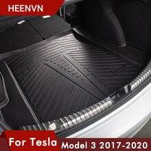 Heenvn Model3 mata do bagażnika samochodowego Tpe s do modelu Tesla 3 mata do bagażnika akcesoria do modelu Tesla trzy akcesoria wewnętrzne 2017 - 2020