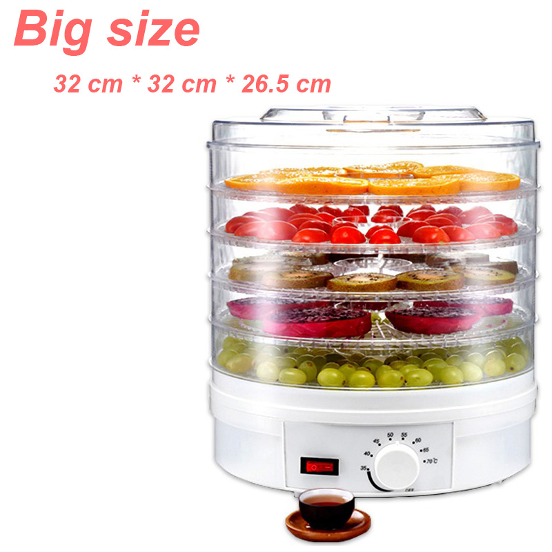 220V 350W Food Dehydrator Fruit Vegetable Herb Meat Drying Machine Snacks Fruit Dryer Food Dryer With 5 Trays Air Dryer