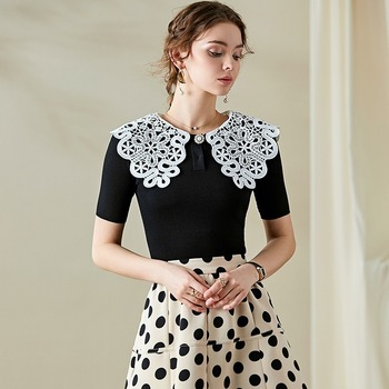 Fashion Knitwear Spring/Summer 2020 New Womens Beaded Tops All-match The Latest One Button
