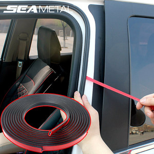 B Type Car Door Rubber Seal Strip Sealing Adhesive Stickers Noise Insulation Weatherstrip Car Styling Auto Interior Accessories