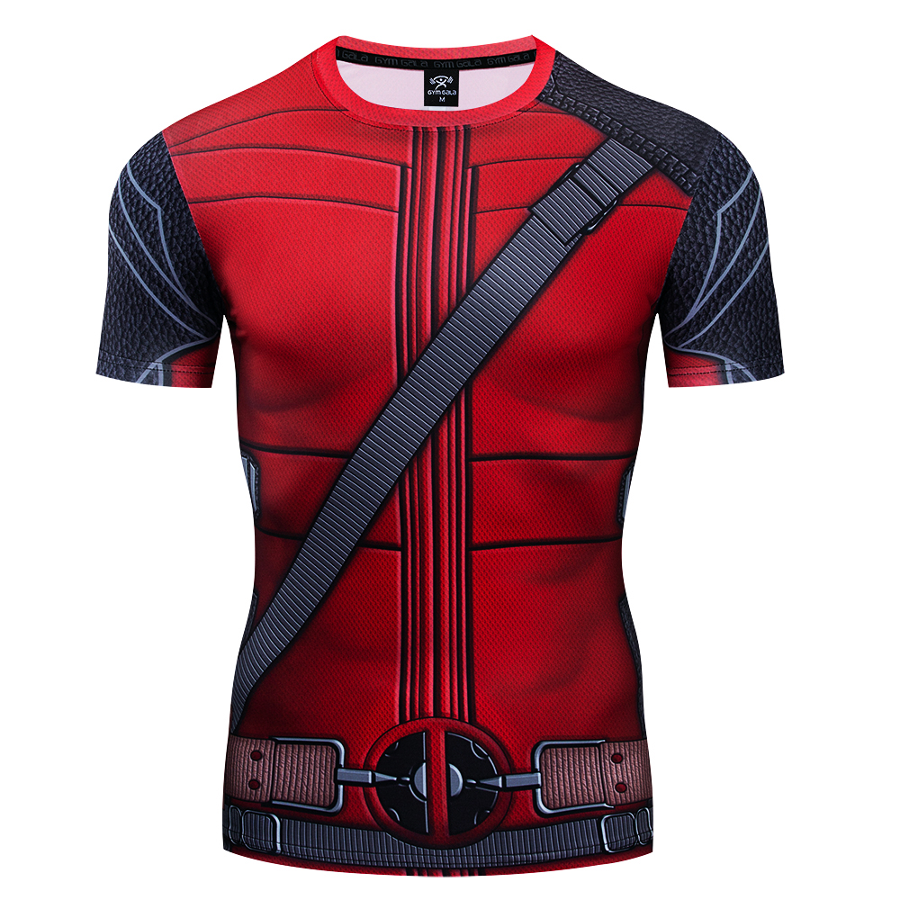 Men's T shirts  A Variety Of characters series 3D Printed Compression  Tee Top Fitness Summer Tights  Short Sleeve gym