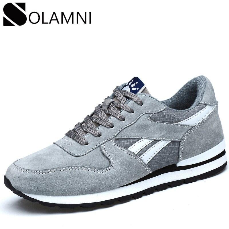 Tênis de couro genuíno dos homens sapatos casuais respirável antiderrapante tênis ao ar livre masculino leve rendas-up sapatos rasos caber