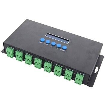 Bc-216 Two Port 16 Channels Artnet To Spi / Dmx Ws2811 Ws2812B Sk6812 2801 8806 Led Pixel Controller 340Pixels 16Ch Dc5V-24V