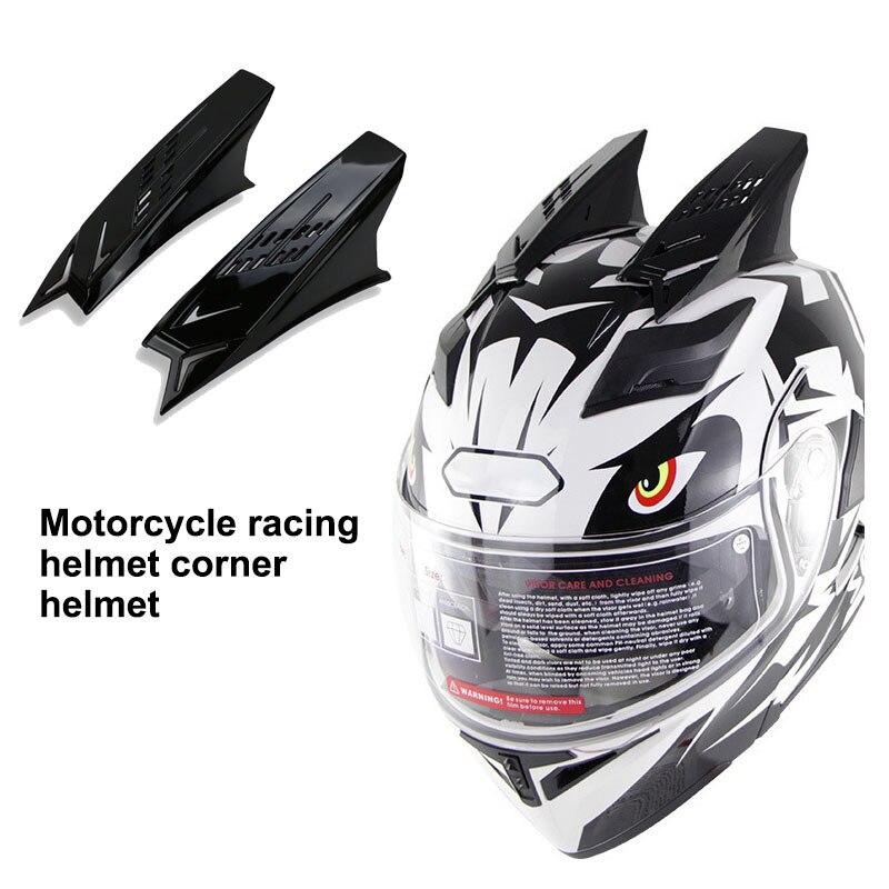 2Pcs Motorbike Helmet Men's Helmet Racing Ear Horns Motorcycle Helmet Horns Punk Style Scooter Motorbike Helmet Horn Motorcycle Bicycle Helmet     - title=
