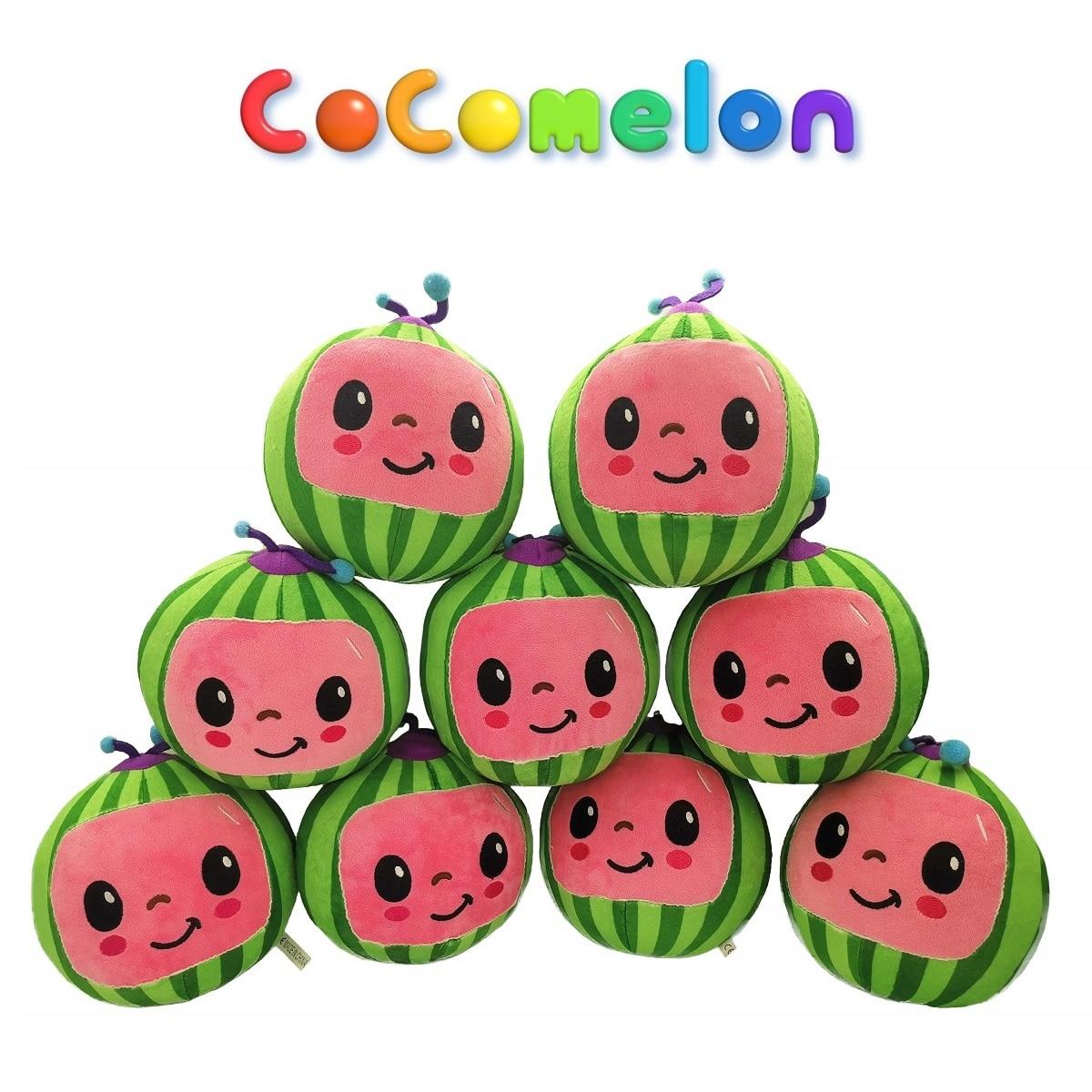 Melão jj brinquedos de pelúcia cocomelon crianças presente bonito brinquedo de pelúcia educacional boneca