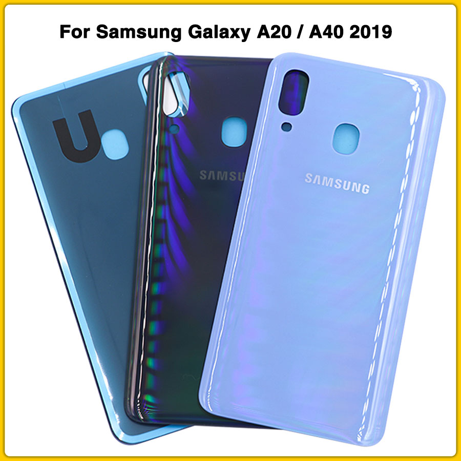 Housing Case For Samsung Galaxy A20 / A40 2019 A205 A205F A405 A405F Battery Back Cover Door Rear Cover Repair Part