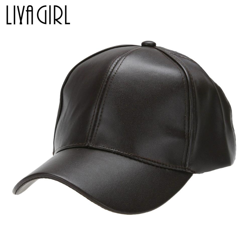 Unisex PU Leather   Baseball     Cap   Men Women Adjustable Snapback 2018 Hot Sale Outdoor Sport Hats   Caps   Wholesale Price