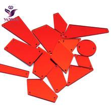 Yanruo акриловое зеркало Стразы для шитья 30 шт