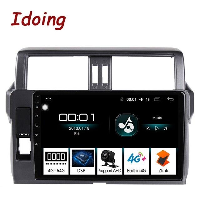 "Idoing 10.2 ""2.5D 4G + 64G Android Auto Radio Multimedia Gps Speler Voor Toyota Land Cruiser Prado 150 2013 2017 Dsp Geen 2DIN Dvd"