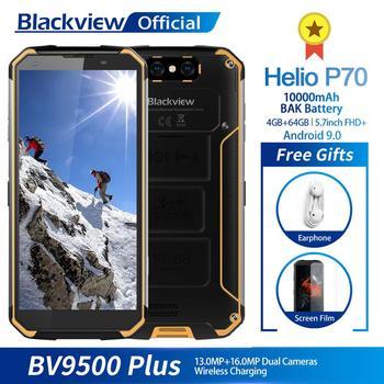 Перейти на Алиэкспресс и купить Blackview BV9500 Plus Helio P70 восьмиядерный смартфон 10000 мАч IP68 Водонепроницаемый 5,7 дюймов FHD 4 Гб + 64 ГБ Android 9,0 мобильный телефон