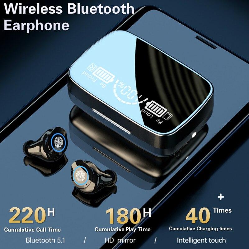 Новинка, беспроводные наушники Bluetooth 5,0, TWS наушники, Hi-Fi мини-наушники-вкладыши, Спортивная гарнитура для бега, поддержка телефонов iOS/Android, HD-...