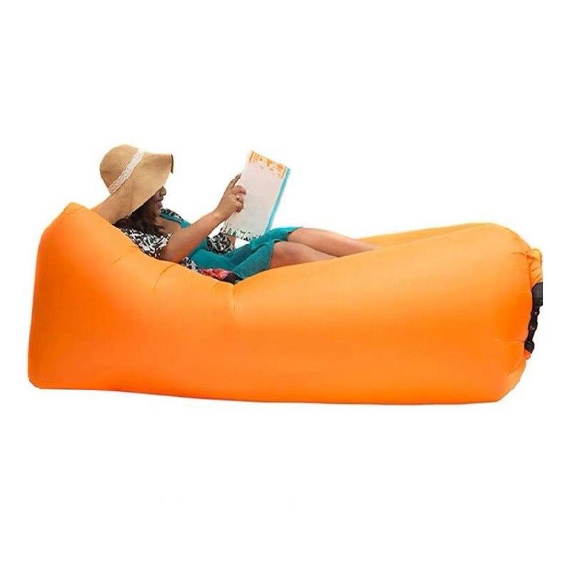 Sofá inflável mobília ao ar livre cadeira dobrável ao ar livre praia almofada preguiçoso saco carro inflável sofá cadeira para almoço break