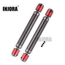 INJORA 2 шт. металлический CVD приводной вал 110-150 мм для 1/10 RC Rock Crawler Axial SCX10 90046