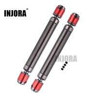 INJORA 2PCS Metallo CVD Albero di Trasmissione 110-140 millimetri per 1/10 RC Rock Crawler Assiale SCX10 90046