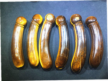 Natural quartz crystal tiger crystal hand-carved massage stick. Chakra articles for daily use
