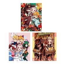 Аниме унитаз Hanako-kun Jibaku Shounen настенная прокрутка настенные подвесные плакаты Otaku коллекция домашнего декора искусство