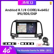 Android 8 1 9 #8243 2din Car Radio Multimedia DVD Player GPS Navigation Head Unit For HYUNDAI SANTA FE 2 2006-2012 2G+32G Head Unit cheap JMCQ CN(Origin) Double Din NONE 4 x 50W 128G JPEG Metial+Plastics 1024*600 1 7kg Bluetooth Built-in GPS Charger FM Transmitter