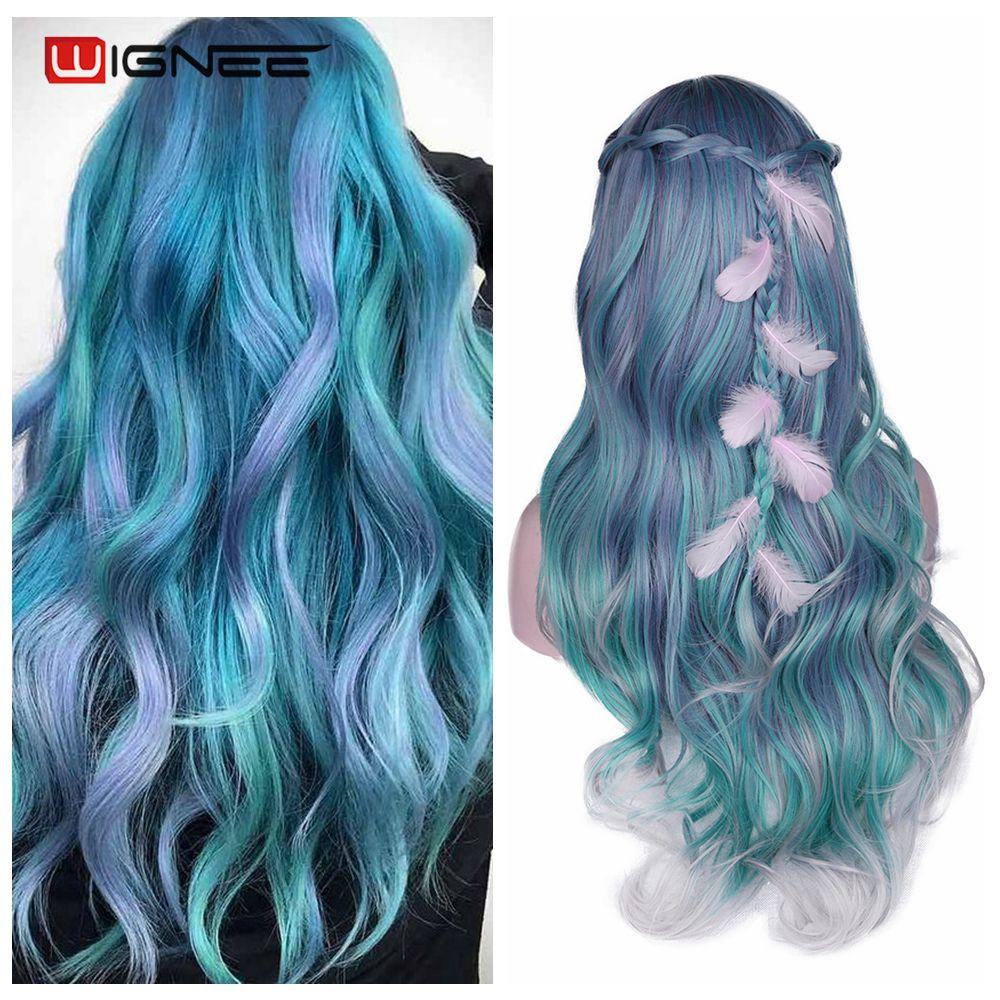Wignee cabelo longo onda do corpo peruca