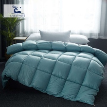 Liv-Esthete Luxury High Grade 100% Silk Green Comforters Filled Duvets Bedding Double Queen King Healthy Skin Duvet Quilts