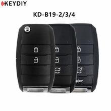 Keydiy 5 Stks/partij, KD900 B Serie Afstandsbediening B19 2/3/4 Autosleutel Voor Kd Mini/URG200/KD X2 Key Programmeur