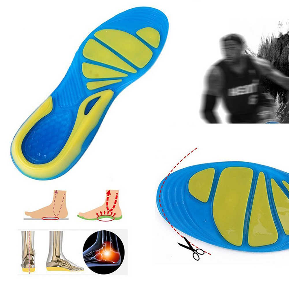Sport Stable Military Unisex Non-Slip Running Orthopedic Insole Cushion TPE Insert Shoe Pad Foot Care Shock Absorption#734