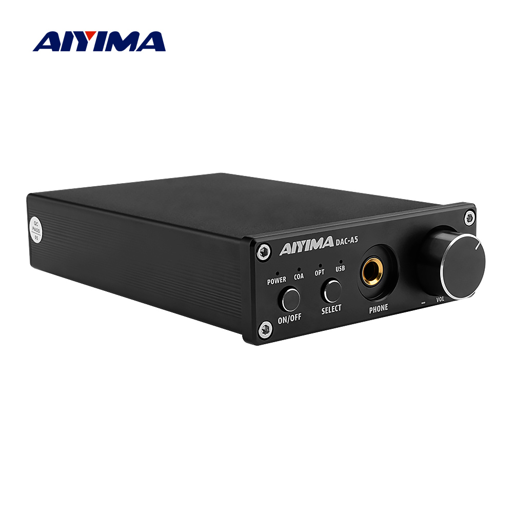 AIYIMA Portable Headphone Amplifier TPA6120A2 USB Coaxial Optical DAC HiFi Audio Decoder Digital Amplifier 24Bit/192KHz-in Headphone Amplifier from Consumer Electronics