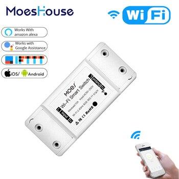 DIY WiFi interruptor de luz inteligente temporizador de interruptor Universal Smart Life APP Control remoto inalámbrico funciona con Alexa Google Home
