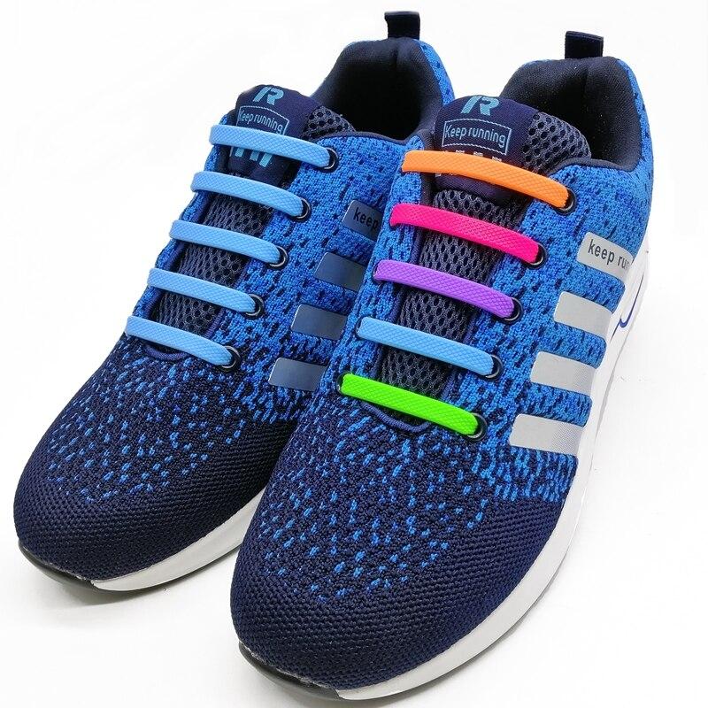 16 шт./компл. эластичные силиконовые шнурки для обуви, модные беговые шнурки без шнурков, Все кроссовки на ремешке 2