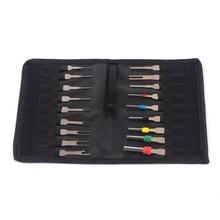 18 Uds coche Terminal de cable herramienta de eliminación de cableado Pin conector Extractor herramientas de reparación de neumáticos herramientas con bolsa