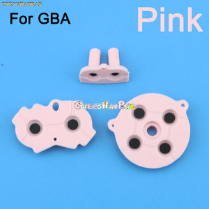 Image 2 - Juego de 8 colores de almohadilla D para GBA, botones conductores de goma coloridos, A B almohadilla D para GameBoy Advance, teclado de selección de silicona, Dpad