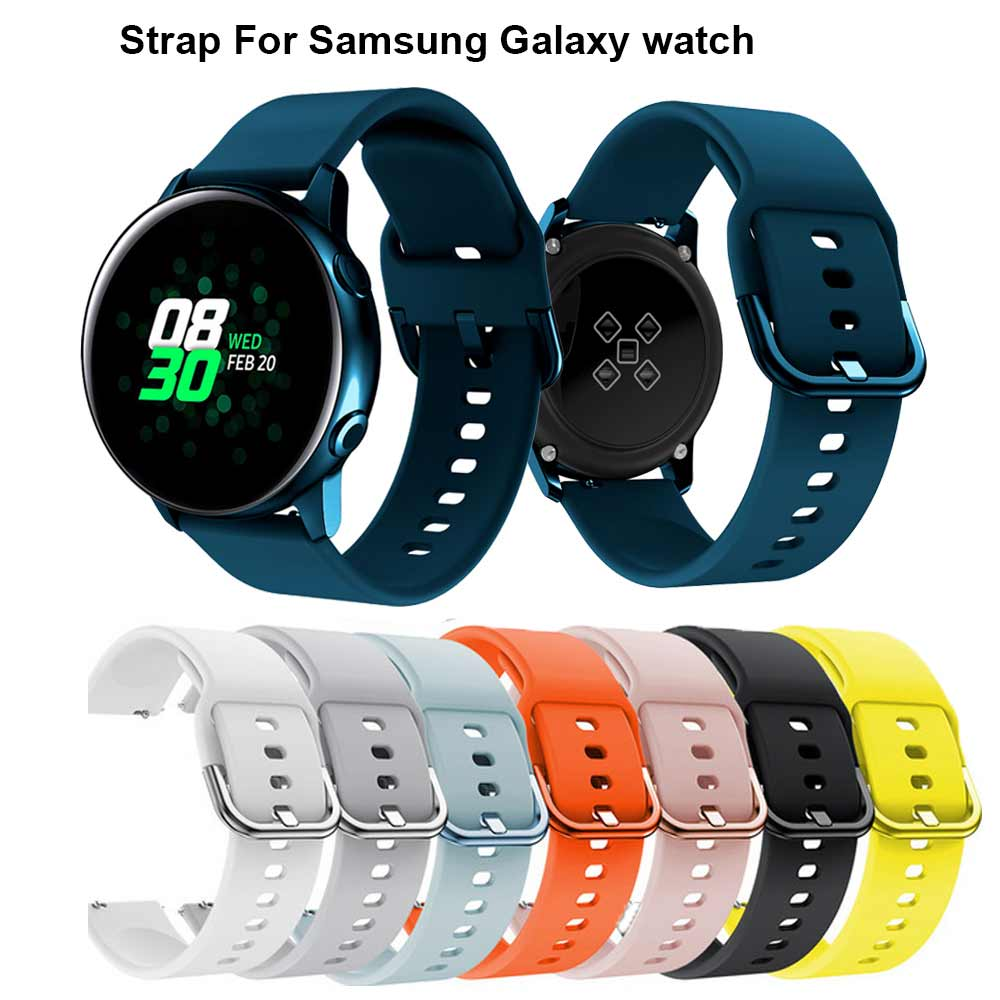 20MM Silicone Original Sport Watch Band For Samsung Galaxy Watch 42mm Active Smart Watch New Strap