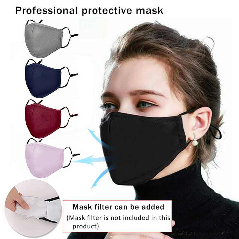 Anti Pollution PM 2.5 Mouth Mask Dust Respirator Washable Reusable Masks Cotton Unisex Mouth Muffle for Allergy/Asthma/Travel