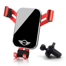 1Pcs Abs Auto Telefoon Houder Pmma Gravity Auto Mount Mobiele Stand Voor Mini Cooper Een S Jcw R55 R56 r58 R59 R60 F56 F60 Countryman