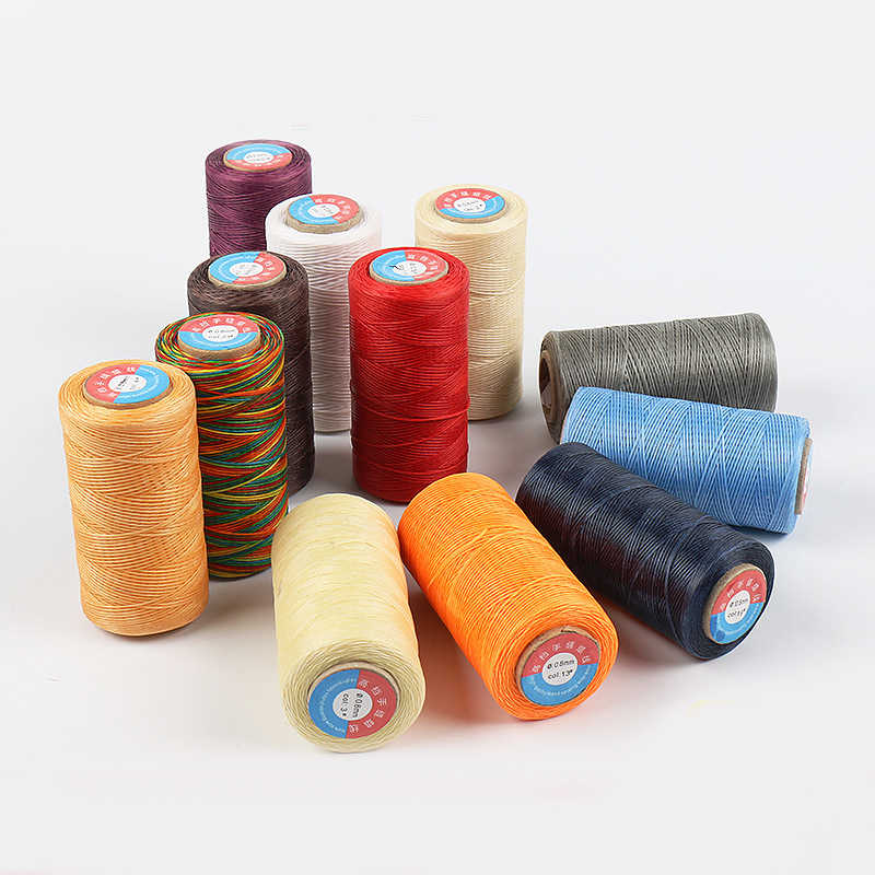 (34)260m Waxed Thread Cotton polyester Hand Knitting String Strap Necklace Rope Bead Sewing Craft for Leather Caft Stitching 0.8