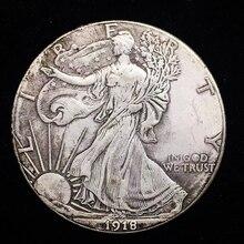 1918 Antique Silver Coins USA Old Copy Replica Coin Collectible Walking Liberty Silver Trade Dollar Art Gift