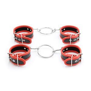 Сексуальные регулируемые наручники из искусственной кожи, плюшевые наручники, ремешки на щиколотку, сексуальные аксессуары для влюбленных...