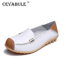 CEVABULE wiosenne i jesienne nowe duże rozmiary skórzane buty dla matek buty pielęgniarskie płaska casualowa wygodna damska jednoczęściowa CQY-3592 tanie tanio Podstawowe Prawdziwej skóry Skóra bydlęca RUBBER Slip-on Pasuje prawda na wymiar weź swój normalny rozmiar Na co dzień