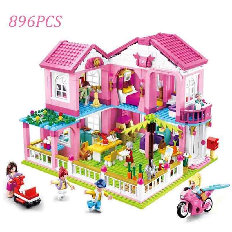 الأميرة Playmobil متوافق 41347 الأصدقاء فروزينلي 2 فتاة نادي هارت ليك سيتي هاوس مستشفى مجموعة Lepining كتل اللعب