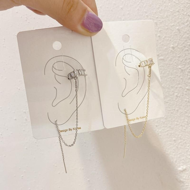 Купить mengjiqiao 2020 новые дизайнерские циркониевые клипсы для женщин