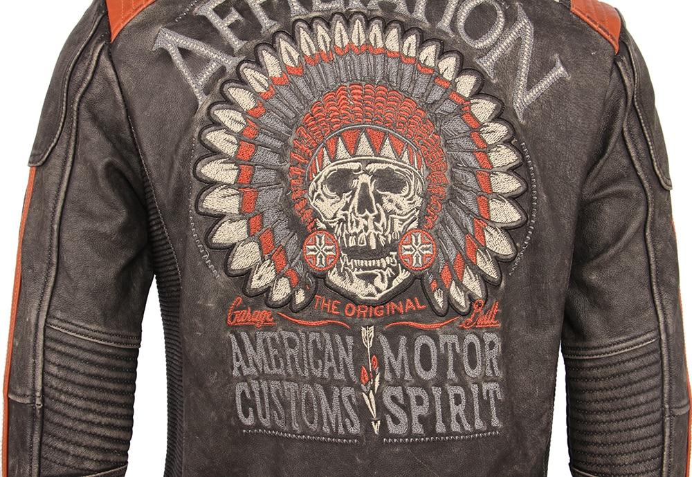 Ha2f17710cba9490c8f305922abcccea5y Vintage Embroidery Skulls Motorcycle Leather Jacket 100% Real Cowhide Moto Jacket Biker Leather Coat Winter Motor Clothing M220