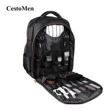 CestoMen Hairdressing Tools Organizer Case Hairstylist Back Pack Shoulder Bag Hairdresser Barber Backpack For Hair Clippers