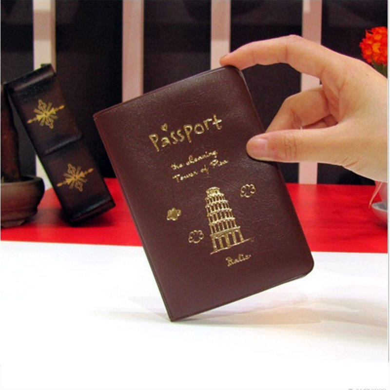 Women Men PU Leather Cover on the passport ID Credit Card Holder Passport cover brand Unisex Travel Passport Holder